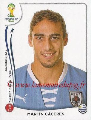 2014 - Panini FIFA World Cup Brazil Stickers - N° 266 - Martin CACERES (Uruguay)