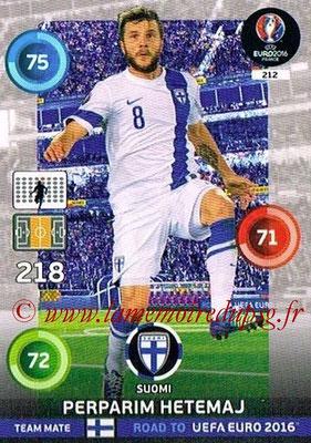 Panini Road to Euro 2016 Cards - N° 212 - Perparim HETEMAJ (Finlande)