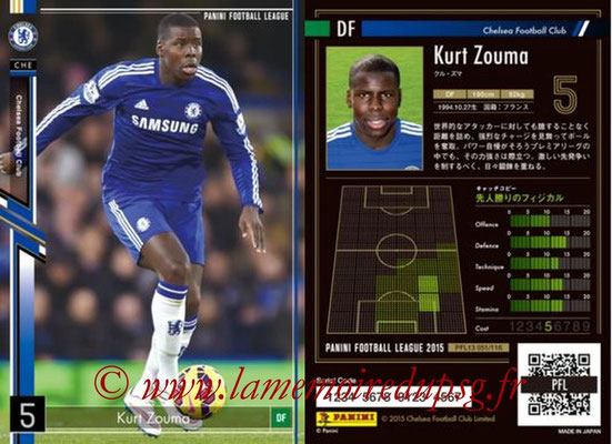 Panini Football League 2015 - PFL13 - N° 051 - Kurt ZOUMA (Chelsea FC)
