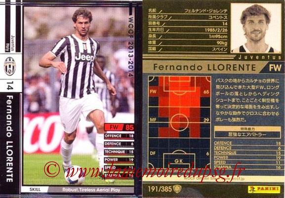 2013-14 - WCCF - N° 191 - Fernando LLORENTE (Juventus FC)