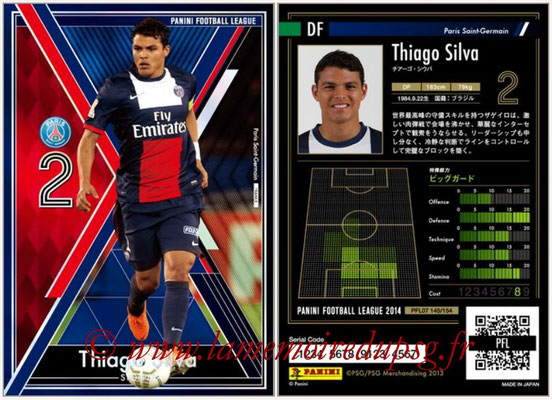 Panini Football League 2014 - PFL07 - N° 145 - Thiago SILVA (Paris Saint-Germain) (Stopper)