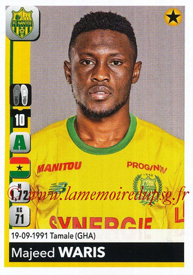 2018-19 - Panini Ligue 1 Stickers - N° 296 - Majeed WARIS (Nantes)