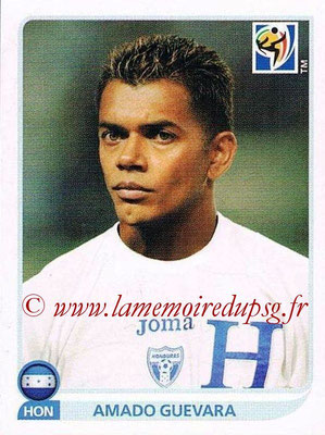 2010 - Panini FIFA World Cup South Africa Stickers - N° 610 - Amado GUEVARA (Honduras)