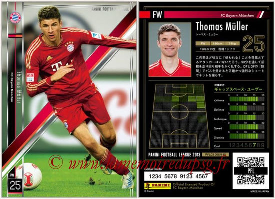 Panini Football League 2013 - PFL03 - N° 095 - Thomas Muller (Bayern Munich)