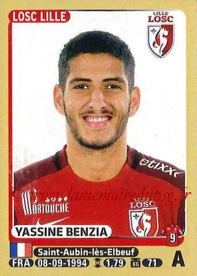 2015-16 - Panini Ligue 1 Stickers - N° 162 - Yassine BENZIA (Lille OSC)