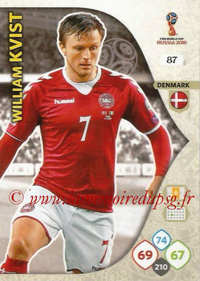 2018 - Panini FIFA World Cup Russia Adrenalyn XL - N° 087 - William KVIST (Danemark)