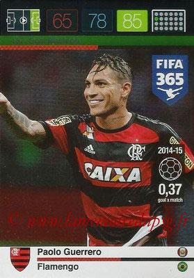 2015-16 - Panini Adrenalyn XL FIFA 365 - N° 187 - Paolo GUERRERO (Flamengo) (Goal Machine)