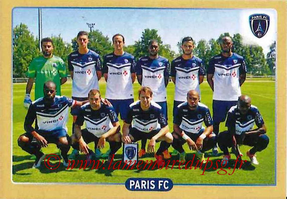 2015-16 - Panini Ligue 1 Stickers - N° 512 - Equipe Paris FC