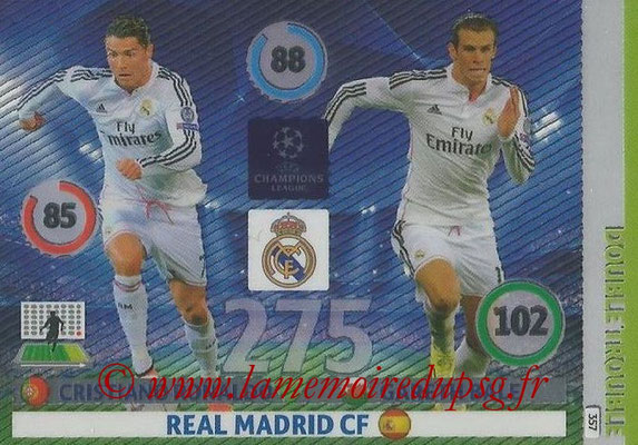 2014-15 - Adrenalyn XL champions League N° 357 - Cristiano RONALDO et Gareth BALE (Real Madrid CF) (Double Trouble)
