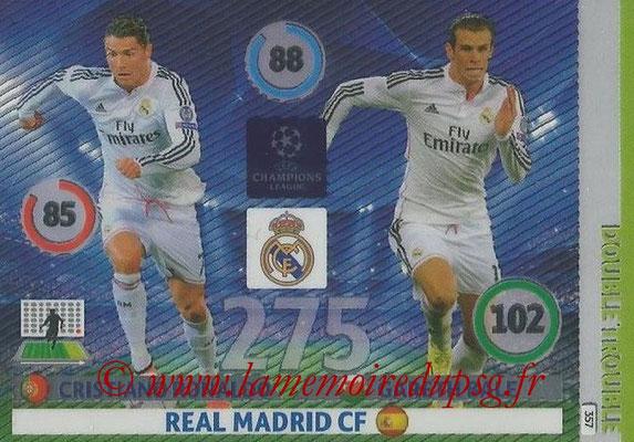 2014-15 - Adrenalyn XL champions League N° 357 - Cristiano RONALDO et Gareth BALE (Real Madrid CF) (Double Trouble)