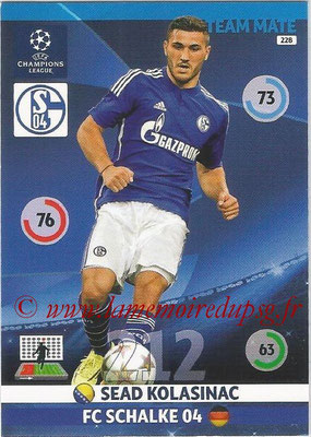 2014-15 - Adrenalyn XL champions League N° 228 - Sead KOLASINAC ( FC Schalke 04)