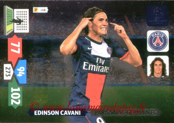 2013-14 - Adrenalyn XL champions League N° 349 - Edinson CAVANI (Paris Saint-Germain) (Game changer)