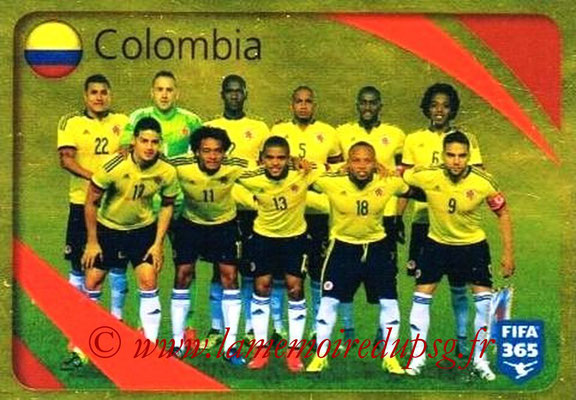 2015-16 - Panini FIFA 365 Stickers - N° 854 - Colombie (Brillante)