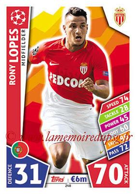 2017-18 - Topps UEFA Champions League Match Attax - N° 248 - Rony LOPES (AS Monaco)
