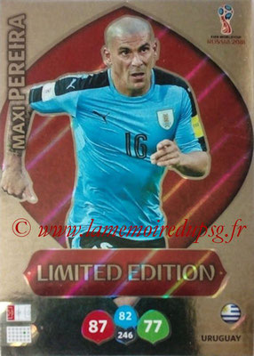2018 - Panini FIFA World Cup Russia Adrenalyn XL - N° LE-MP - Maxi PEREIRA (Uruguay) (Limited Edition)