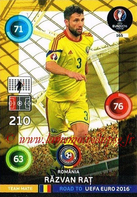 Panini Road to Euro 2016 Cards - N° 165 - Razvan RAT (Roumanie)