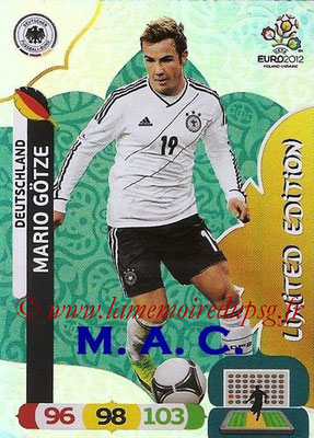 Panini Euro 2012 Cards Adrenalyn XL - N° LE12 - Mario GÖTZE (Allemagne) (Limited Edition)