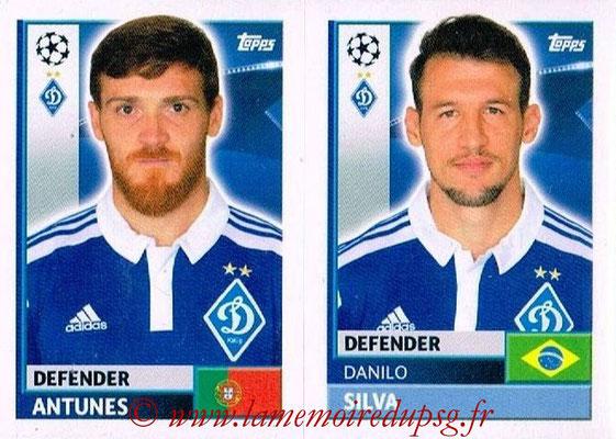 2016-17 - Tops UEFA Champions League Stickers - N° DYN 6-7 - Danilo SILVA + ANTUNES  (FC Dynamo Kiev)
