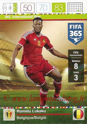 2015-16 - Panini Adrenalyn XL FIFA 365 - N° 345 - Romelu LUKAKU (Belgique) (International Star)