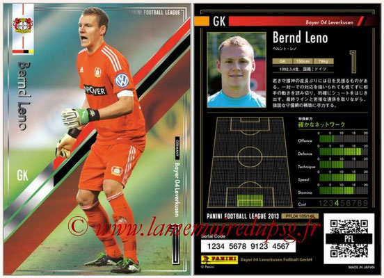 Panini Football League 2013 - PFL04 - N° 105 - Bernd LENO (Bayer Leverkusen )