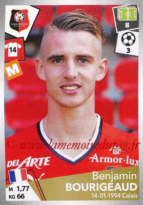 2017-18 - Panini Ligue 1 Stickers - N° 401 - Benjamin BOURIGEAUD (Rennes)