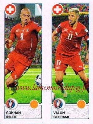 Panini Euro 2016 Stickers - N° 099 - Gokhan INLER + Valon BEHRAMI (Suisse)