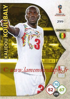 2018 - Panini FIFA World Cup Russia Adrenalyn XL - N° 299 - Kalidou KOULIBALY (Senegal)