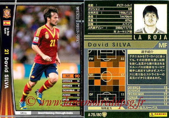 2012-13 - WCCF - N° A75 - David SILVA (Espagne)