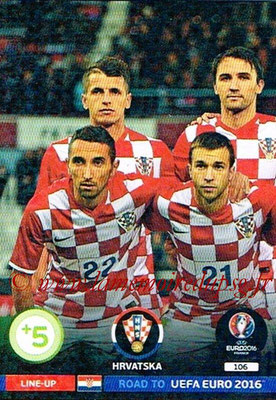 Panini Road to Euro 2016 Cards - N° 106 - Equipe Croatie 1