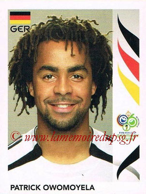 2006 - Panini FIFA World Cup Germany Stickers - N° 024 - Patrick OWOMOYELA (Allemangne)