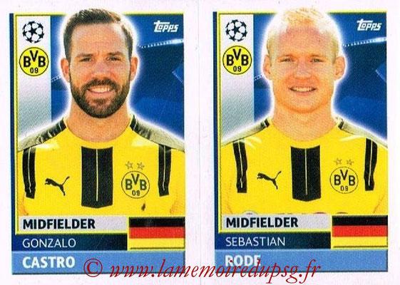 2016-17 - Topps UEFA Champions League Stickers - N° DOR 10-11 - Sebastian RODE + Gonzalo CASTRO (Borussia Dortmund)