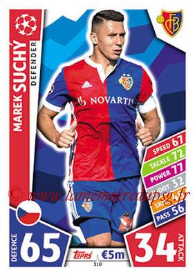 2017-18 - Topps UEFA Champions League Match Attax - N° 310 - Marek SUCHY (FC Bâle)