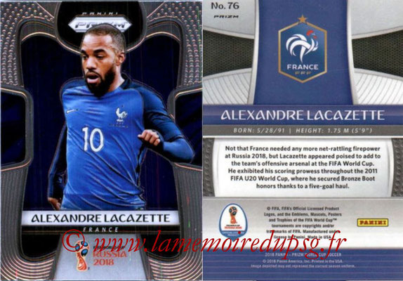 2018 - Panini Prizm FIFA World Cup Russia - N° 076 - Alexandre LACAZETTE (France)