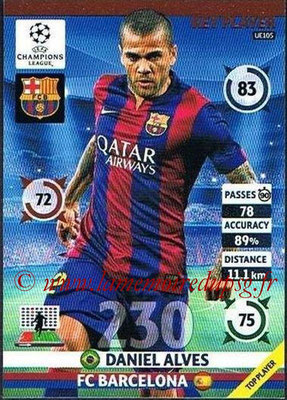 2014-15 - Adrenalyn XL champions League Update edition N° UE105 - Daniel ALVES (FC Barcelone) (Key Player)