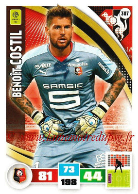 2016-17 - Panini Adrenalyn XL Ligue 1 - N° 307 - Benoît COSTIL (Rennes)