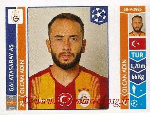 2014-15 - Panini Champions League N° 296 - Olcan ADIN (Galatasaray AS)