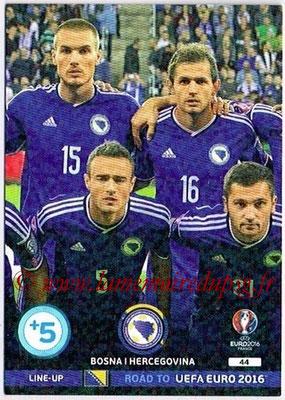 Panini Road to Euro 2016 Cards - N° 044 - Equipe Bosnie Herzegovine 2