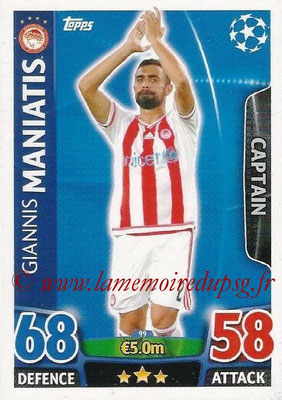2015-16 - Topps UEFA Champions League Match Attax - N° 099 - Giannis MANIATIS (Olympiacos FC) (Captain)
