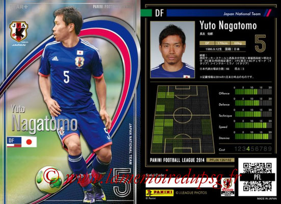 Panini Football League 2014 - PFL06 - N° 126 - Yuto NAGATOMO (Japon) (Star +)
