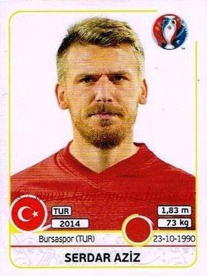 Panini Euro 2016 Stickers - N° 406 - Serdar AZIZ (Turquie)