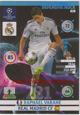 2014-15 - Adrenalyn XL champions League N° 302 - Raphael VARANE (Real Madrid CF) (Defensive Rock)