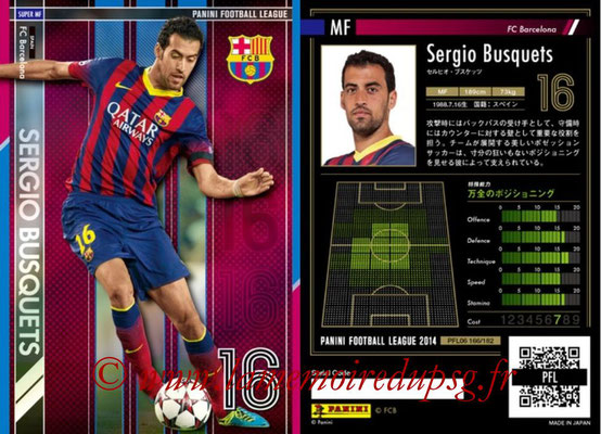 Panini Football League 2014 - PFL06 - N° 166 - Sergio BUSQUETS (FC Barcelone) (Super MF)
