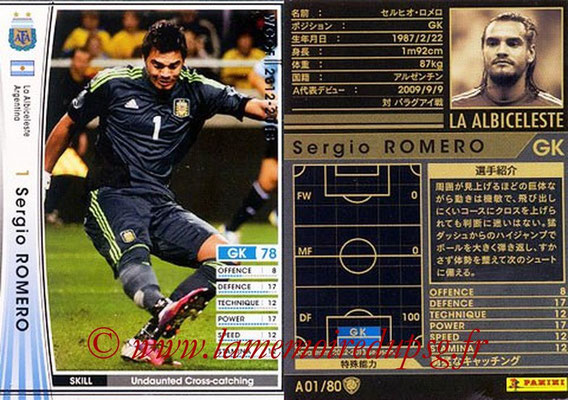 2012-13 - WCCF - N° A01 - Segio ROMERO (Argentine)