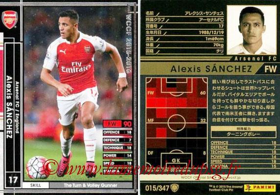 2015-16 - Panini WCCF - N° 015 - Alexis SANCHEZ (Arsenal FC)