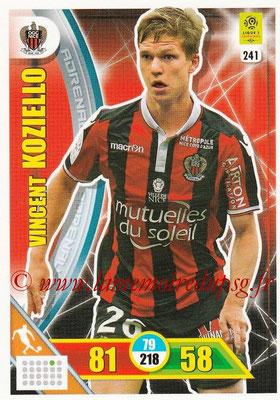 2017-18 - Panini Adrenalyn XL Ligue 1 - N° 241 - Vincent KOZIELLO (Nice)