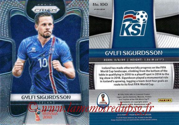 2018 - Panini Prizm FIFA World Cup Russia - N° 100 - Gylfi SIGURDSSON (Islande)