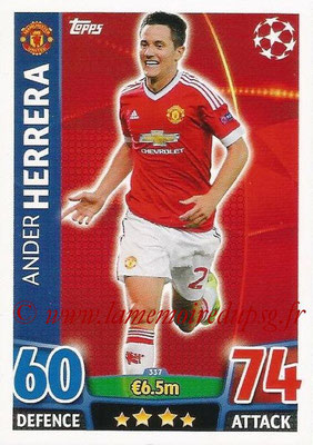2015-16 - Topps UEFA Champions League Match Attax - N° 337 - Ander HERRERA (Manchester United)