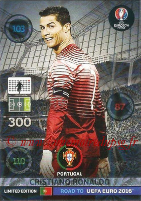 Panini Road to Euro 2016 Cards - N° LE-CR - Cristiano RONALDO (Portugal) (Limited Edition)