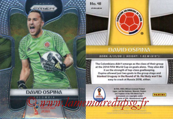 2018 - Panini Prizm FIFA World Cup Russia - N° 041 - David OSPINA (Colombie)