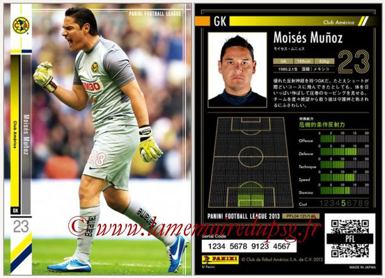 Panini Football League 2013 - PFL04 - N° 121 - Moises MUNOZ (Club América)